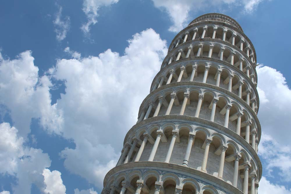 Leaning Tower of Pisa in Pisa, Italy