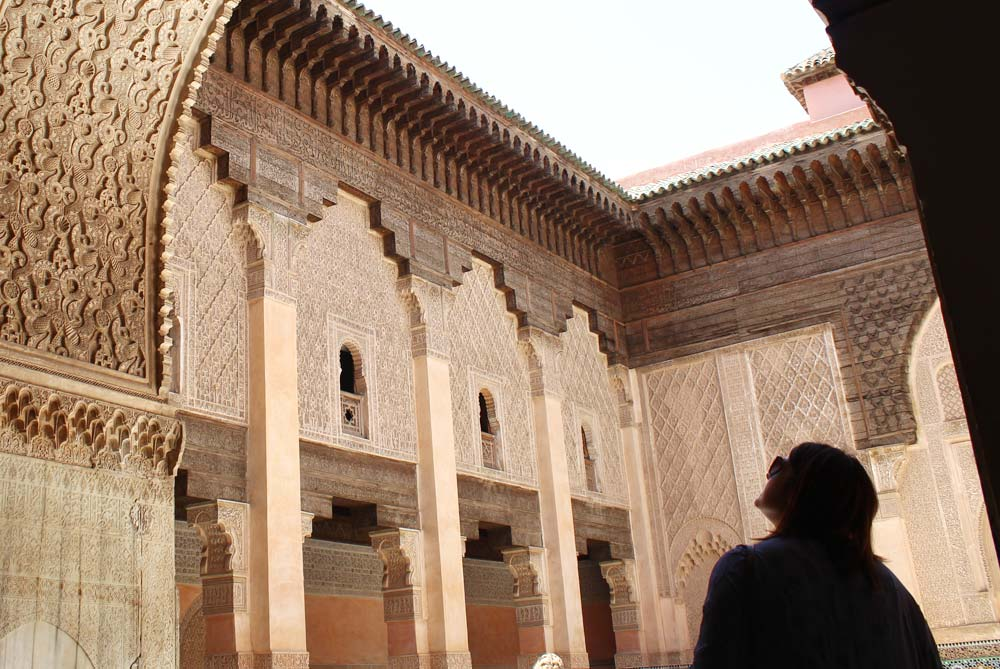 Exploring palaces in Marrakesh, Morocco