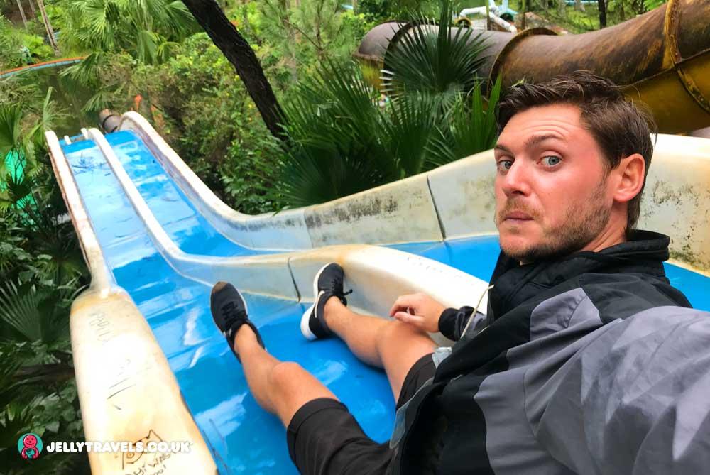 james-on-water-slides-huey-thien-abandoned-waterpark-hue-vietnam